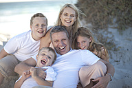 Happy family together on a beach - ZEF004778