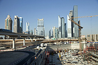 UAE, Dubai, construction site in front of skyscrapers - PCF000032