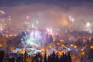 Germany, Bavaria, Oberstdorf, Fireworks at New Year's Eve - WGF000587