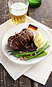 Beef roulade with gree beand and boiled potato - KSWF001381
