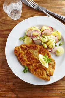 Dish of escalope and fried potatoes - KSWF001394
