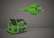Green eco house and plug - ALF000295