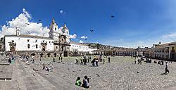 Ecuador, Quito, Plaza de San Francisco and Church and Monastery of St. Francis - FO007620