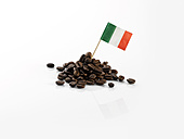 Coffee beans with Italian flag - KSWF001413