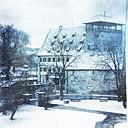 Germany, Baden-Wurttemberg, Winter morning near Tubingen, Kirchberg Castle - LV002745