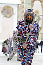 Germany, Bavaria, Mittenwald, whipcracker on traditional carnival procession - LB001030