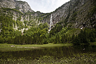 Germany, Bavaria, Berchtesgaden, Roethbach Waterfall, Lake Obersee - ZC000199