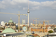 Germany, Berlin, view to  Berliner Dom, television tower and construction cranes - MEM000706