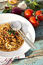 Spaghetti with Bolognese sauce, close up - MAEF009701