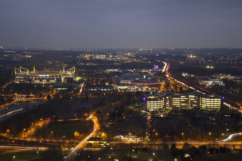 Germany, Dortmund, view from the television tower to the soccer stadium Signal Iduna Park - WI001382