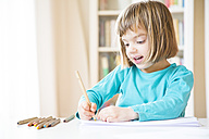 Little girl drawing - LVF002771