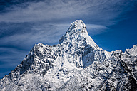 Nepal, Khumbu, Everest region, Namche Bazaar, Ama Dablam - ALRF000002
