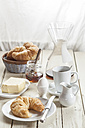 Breakfast with croissant, egg, coffee, honey and butter - SBDF001610