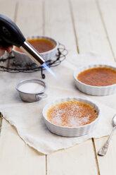 Caramelization of creme brulee - SBDF001641