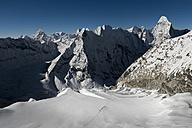 Nepal, Khumbu, Everest region, mountaineers on Island peak - ALRF000021