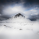 United Kingdom, Scotland, Highland, Buachaille Etive Mor and clouds - SMAF000298