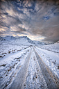 United Kingdom, Scotland, Glencoe, Glen Etive, road in winter - SMAF000303