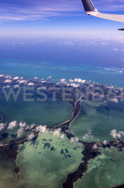 USA, Florida, aerial view of the Florida Keys - THAF001225