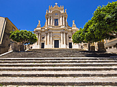 Italy, Sicily, Modica, San Giovanni church, UNESCO World heritage site - AMF003756