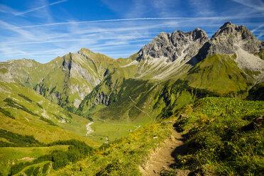Germany, Bavaria, Allgaeu Alps, view over the Oytal - WGF000608