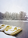 Germany, Cologne, winter at Decksteiner Weiher - GWF003764