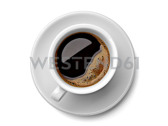 Cup of black coffee on white background - RAMF000048 - Milan Radulovic/Westend61