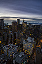 Canada, Vancouver, Cityscape from Harbour Centre in the evening - NGF000237