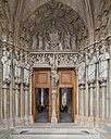 Switzerland, Lausanne, portal of cathedral Notre-Dame - WD002913