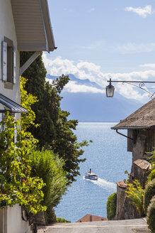 Switzerland, Lavaux, Lake Geneva, wine village Rivaz - WDF002933