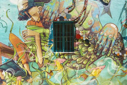 Chile, Valparaiso, Baron, graffiti at wall - FP000028