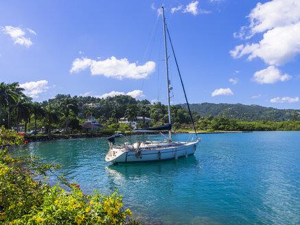 Caribbean, Jamaica, Port Antonio, sailing ship - AMF003792