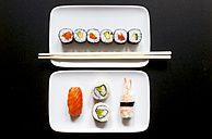 Variety of sushi on plate - JTF000644