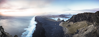Iceland, Beach near Dyrholaey, Panorama - STCF000071