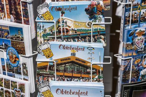 Germany, Bavaria, Munich, postcards at the Oktoberfest - TC004596