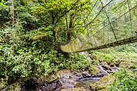 Costa Rica, Jungle, suspension bridge - THAF001242