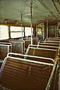 Seats in an old double-decker bus - HOH001269