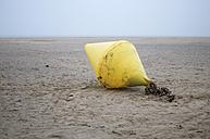 Netherlands, Goeree-Overflakkee, Buoy at beach - MHF000350