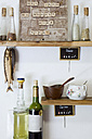 Kitchen rack with self-made pinboard - GIS000034
