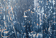 Abstract texture of blue painted damaged metal wall - RAEF000050