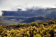 USA, Hawaii, Maui, Haleakala, volcanic landscape with cinder cones - BRF001059