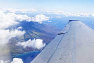 USA, Hawaii, Maui, aerial view from plane - BRF001110