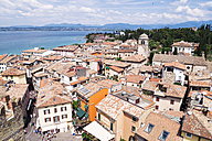 Italy, Lombardy, Province of Brescia, Sirmione, Lake Garda, view from Scaliger Castle - GSF000943
