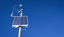 Austria, weather station, solar cell - DISF001421