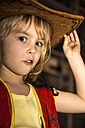 Little girl dressed up as cowboy - JFEF000565