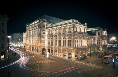 Austria, Vienna lighted state opera by night - STCF000096
