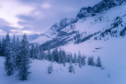 Austria, Hochkoenig, Muehlbach, winter landscape - STCF000098