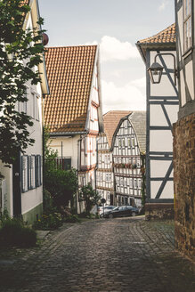 Germany, Hesse, Schlitz, half-timbered houses - GSF000973