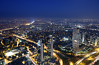 Turkey, Istanbul, view over the financial district from the Istanbul Sapphire by night - LHF000437