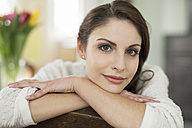 Portrait of brunette young woman at home - SHKF000277
