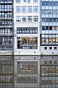 Germany, Hamburg, Alsterfleet, building reflected in water - HL000842
